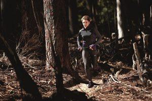 Bieganie w zimie po lesie
